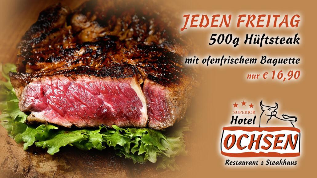 Aktionstag Freitag Steak Hotel Restaurant Ochsen in Bad Saulgau