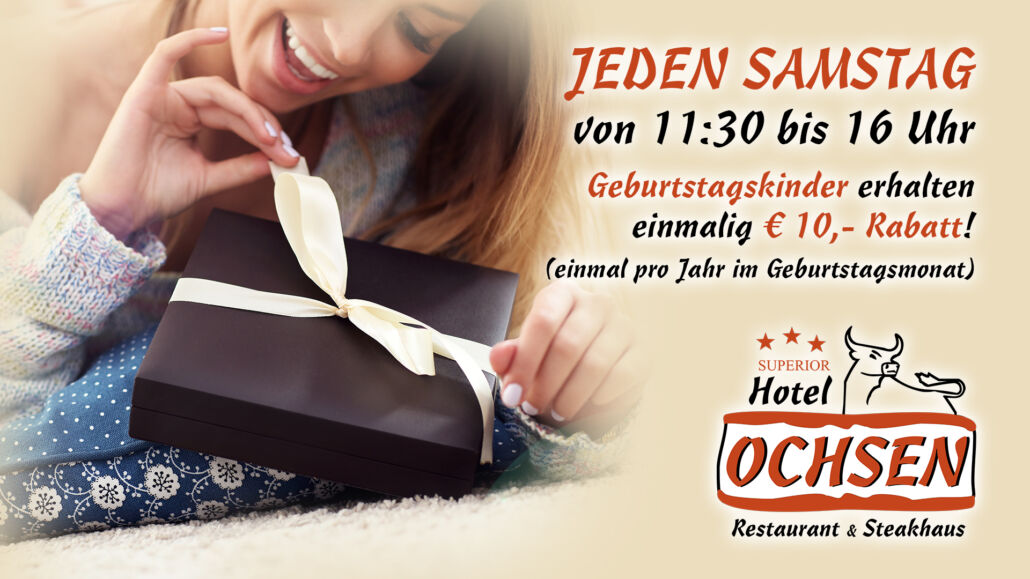 Aktionstag Samstag Geburtstag Hotel Restaurant Ochsen in Bad Saulgau